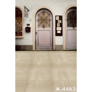 Light Purple Arched Doors Floor Tiles Easy Backdrops for Photography