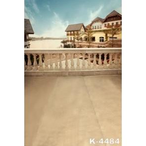 Holiday Villa Terrace Building Vinyl Photo Prop Background