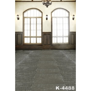 Dark Grey Floor Tiles Bright Windows Large Photography Backdrops