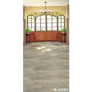 Vintage Brick Floor Large Windows Indoor Professional Photo Backdrops