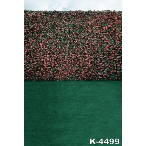 Green Grassland Roses Flowers Wall Wedding Best Photography Backdrops
