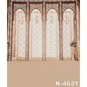 Retro Carved Door Indoor Backdrop Background for Photography