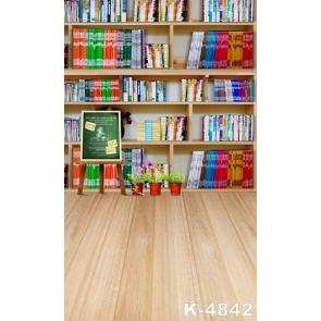 Attractive Fashion Bookcase Wooden Floor Baby Backdrop