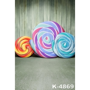Huge Lollipop Wooden Wall Backdrop Baby Photo Backdrops