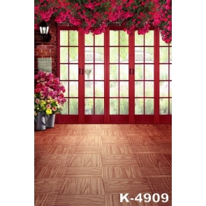 Affordable Indoor Red Flowers down from Ceiling Wedding photography backdrops