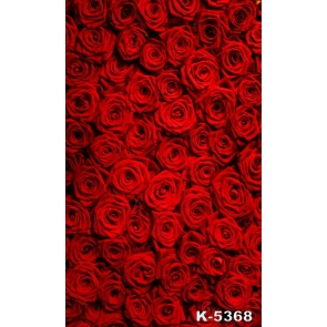 Cheap Red Roses Flowers Wall Background Drops for Photography