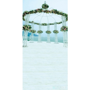 Romantic Seaside Wedding Venue Wedding Photos Backdrops for Photography