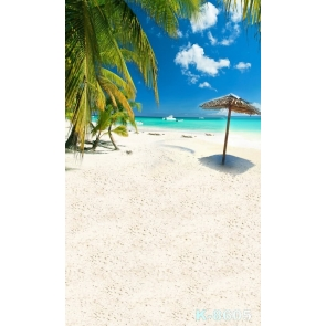 Summer Vacation Seaside Coconut Tree Beach Picture Backdrop