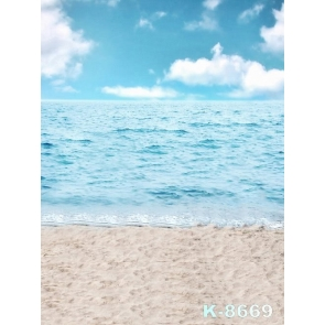 Light Blue Sky Sea Sand Beach Backdrop Background for Photography
