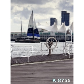 CANADA Harbor Ship Anchor Scenic Photo Prop Background