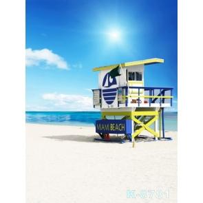 Blue Sky Sea Miami Beach for Summer Holiday Pro Photo Backdrops