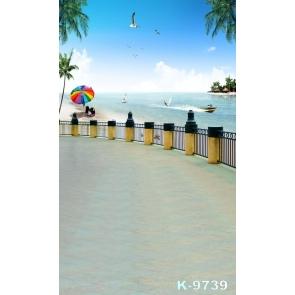 Summer Vacation Seaside Beach Photography Photo Backdrops