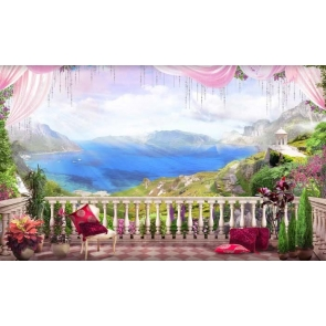 Beautiful Balcony Large Stage Theatreworld Scenic Backdrops