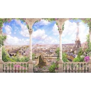 Dreamy Roman Column City Landscape Wedding Backdrop Studio Photography Background Prop