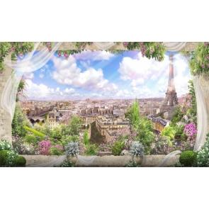 Dreamlike City Landscape Photo Background Scenic Backdrops