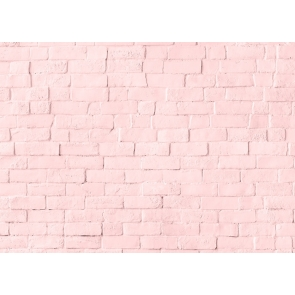 Light Pink Brick Wall Background Party Studio Photography Backdrop
