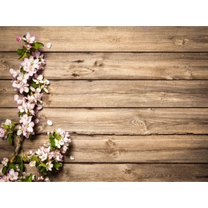 Rustic Wood Floral Backdrop Birthday Party Baby Shower Photography Background