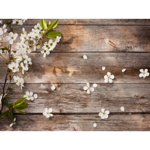 Wood Backdrop With Flowers Birthday Party Bridal Shower Photography Background