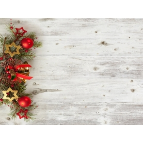 Gray Rustic Wood Backdrop Christmas Party Photography Background