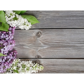 Photography Background Rustic Wood Plank Backdrop With Flowers