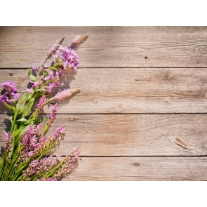 Wood Plank Backdrop With Flowers Rustic Wood Photography Background