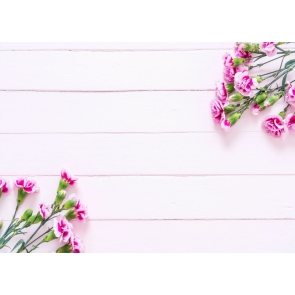 Light Pink Wood Photography Backgrounds and Props with Flowers