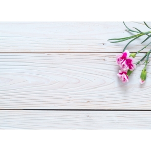 Horizontal Texture Wood Drop Studios Backdrops with Flowers