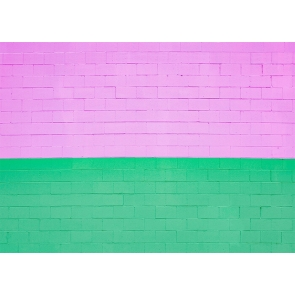 Personalized Pink And Green Brick Wall Background Studio Photography Backdrop