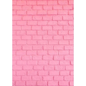 Pink Brick Wall Backdrop For Party Photography Background