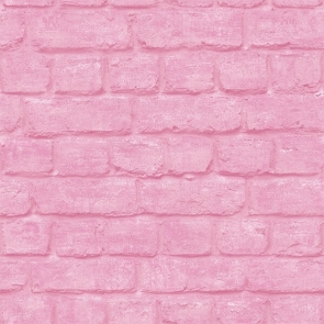 Pink Brick Wall Backdrop Party Studio Photography Background