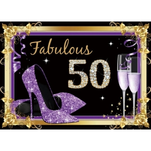 High Heels Theme Women 50th Birthday Party Backdrop Photography Background