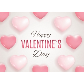 Happly Valentine's Day Backdrop Sweetheart Pink Balloon Background