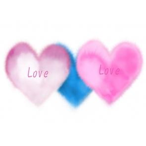 Heart Shape Love Photography Background Valentine Backdrop