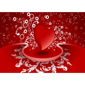Valentine's Day Backdrop Heart Shape Red Wall Photography Background