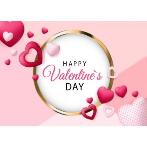 Valentine's Day Backdrop Heart Shape Photography Background