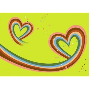 Rainbow Heart Shape Valentine's Day Backdrop Photography Background
