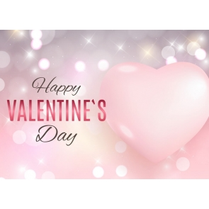 Pink Heart Shape Happly Valentine's Day Backdrop Photography Background