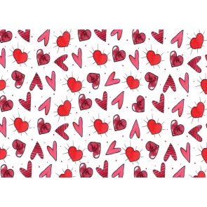 Lovely Heart Shape Photography Background Valentine's Day Backdrop
