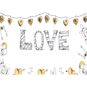 Lovely Sweetheart Heart Shape Banner Love Background Valentine's Day Backdrop