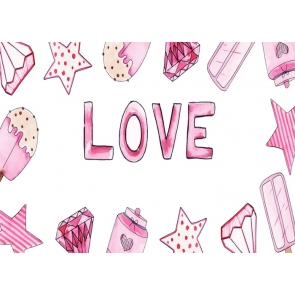 Lovely Sweetheart Love Background Valentine's Day Backdrop