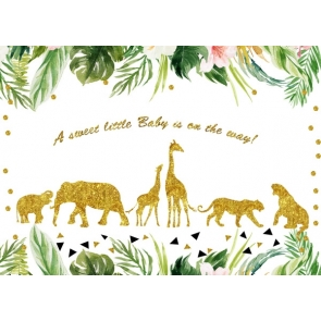 Baby Shower Safari Backdrop Party Theme Background