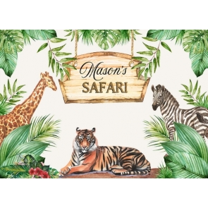 African Safari Theme Baby Shower Backdrop Party Background