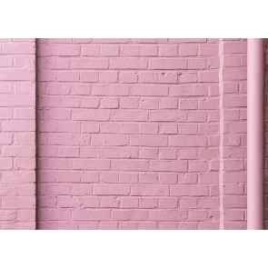 Retro Pink Brick Wall Background Studio Photography Backdrop