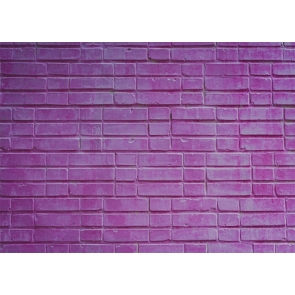Retro Purple Brick Wall Background Party Photography Backdrop