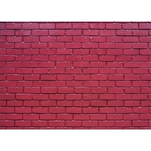 Retro Red Brick Wall Background Studio Photography Backdrop