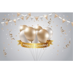 Rose Gold Banner Balloon Happy Birthday Backdrop Party Photography Background