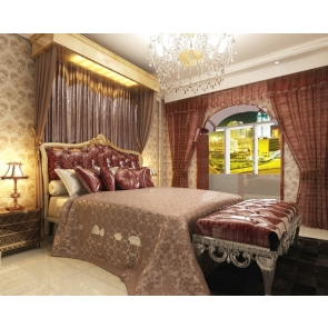 Luxury Big Bed Bedroom Backdrop Decoration Prop Video Photography Background