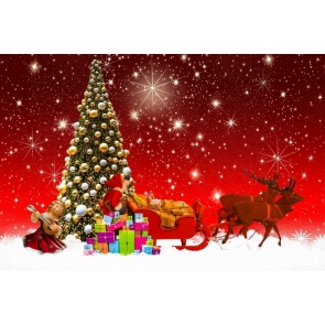 David's Deer Carrying Gifts Christmas Tree Photo Prop Background