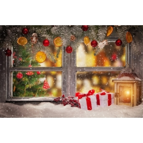 Winter Christmas Bells Balls Party Background Drops for Photography