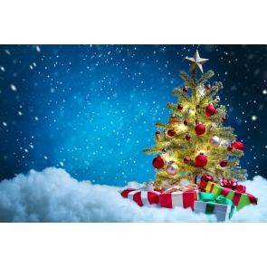 Christmas Tree Balls Gifts Party Photography Background Props
